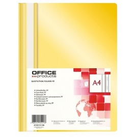 Skoroszyt A4 PP Office Products Żółty 25szt