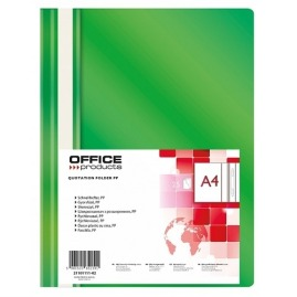 Skoroszyt A4 PP Office Products Zielony 25szt