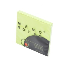 Memo Notes 75x75 mm, 80 kartek zielony brilliant