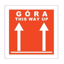 Etykiety GÓRA - THIS WAY UP - 10 x10cm - 100szt